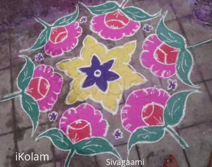 Rangoli: Simple and usual