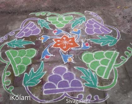 Rangoli: Grapes