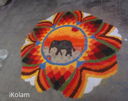 Rangoli: republic day rangoli 2013