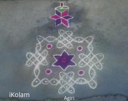 Rangoli: Sikku Kolam 2 by Amudha Giri