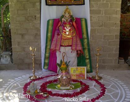 Rangoli: Vaibhava lakshmi - yantra kolam