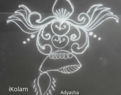 Rangoli: Freehand diya rangoli kolam