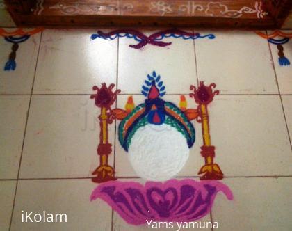 Rangoli: Chithra full moon day kolam