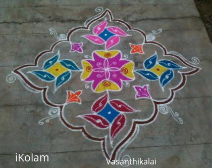 Rangoli: New year kolam 2016