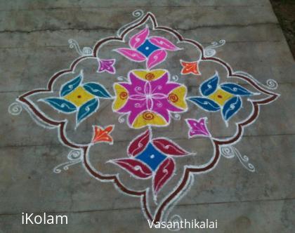 Rangoli: New year kolam 2016