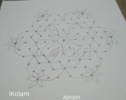 Rangoli: Paper version of star rangoli