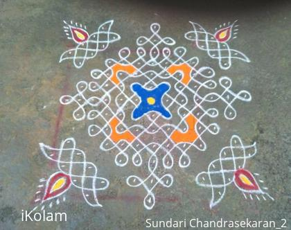Rangoli: simple chikku kolam