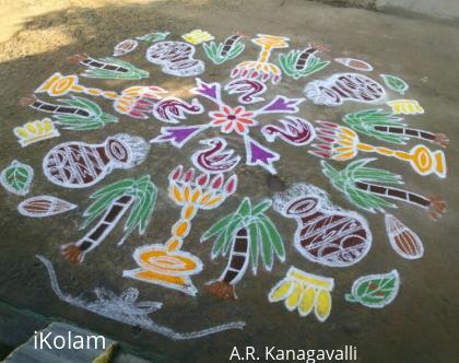 Rangoli: A.R.Kanagavalli pongal rangoli