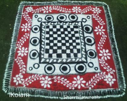 Rangoli: chess carpet