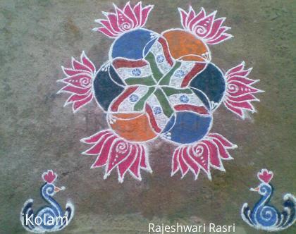 Rangoli: Republic day kolam
