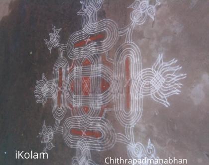 Rangoli: welcome onam