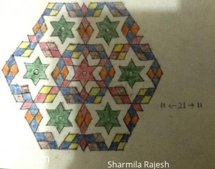 Rangoli: Stars and Diamonds