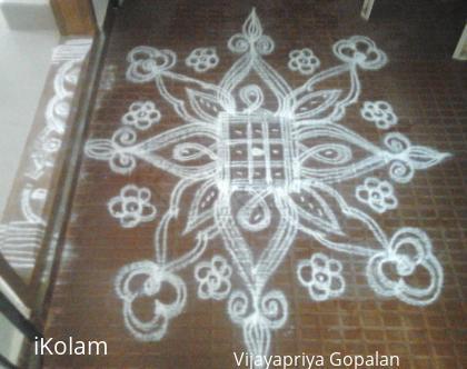 Rangoli: Kolam for grahapravesam function