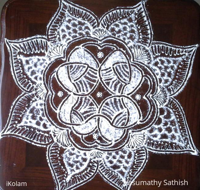 Rangoli: Beginner's freehand kolam with rice flour