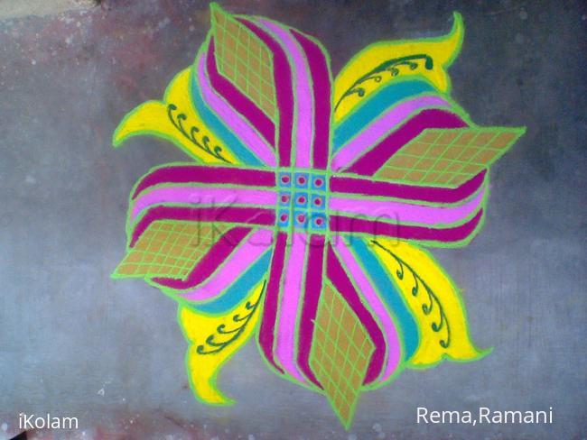 Rangoli: colourful padikolam