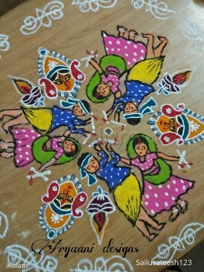 Rangoli: Navratri special...