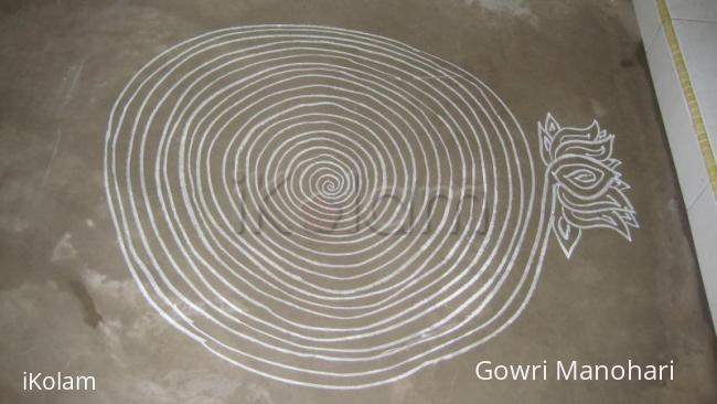 Rangoli: Chalk kolam with Singapore !!!