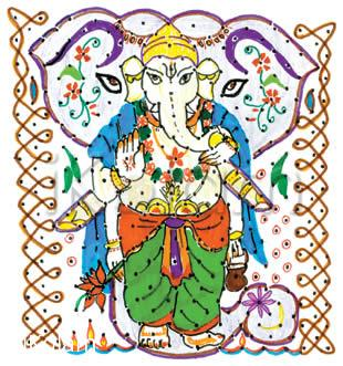 Rangoli: pillaiyar