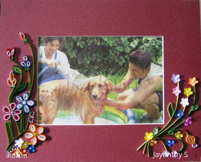Rangoli: Quilled  photo frame