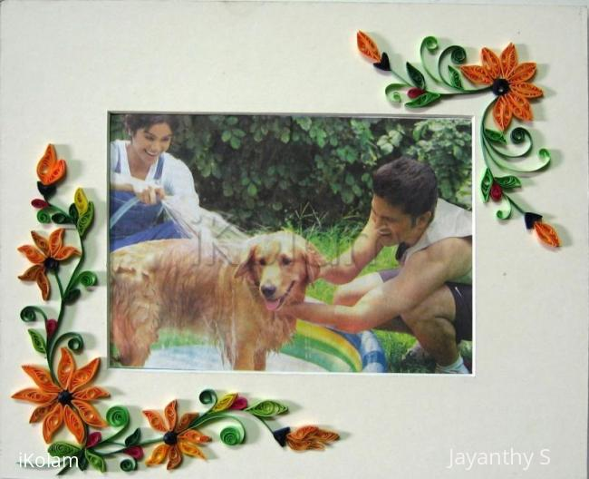 Rangoli: Quilled  photo frame