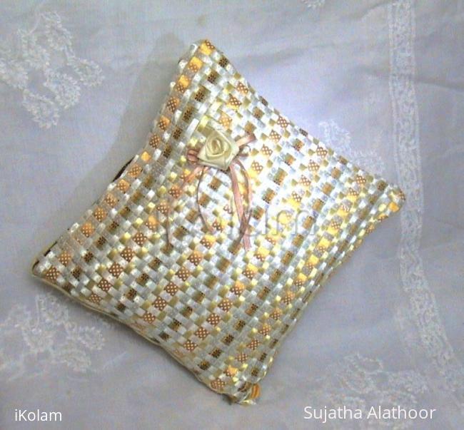 "Rangoli: ""Offray"" Satin Ribbon Cushion Cover"