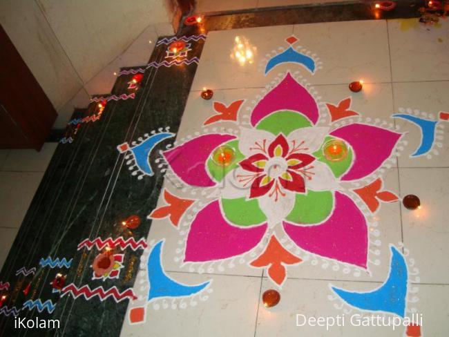 Rangoli: lights and petals