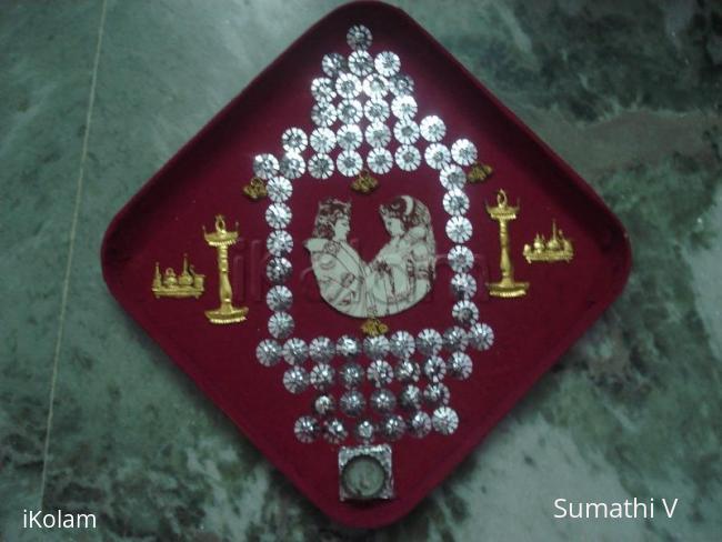 Rangoli: Arthi plates