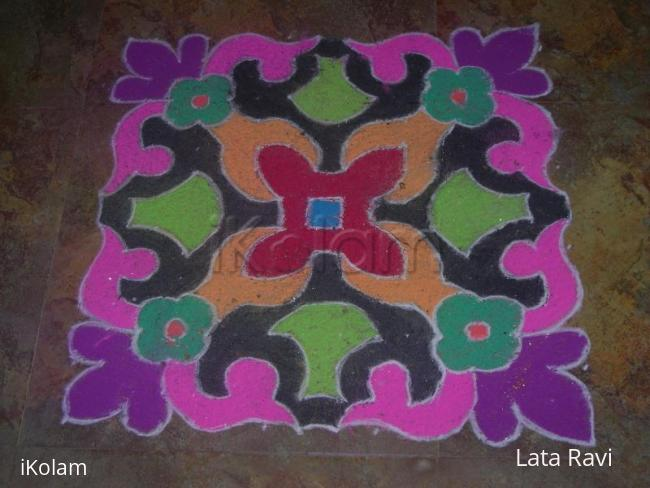 Rangoli: rangoli made during deepavali