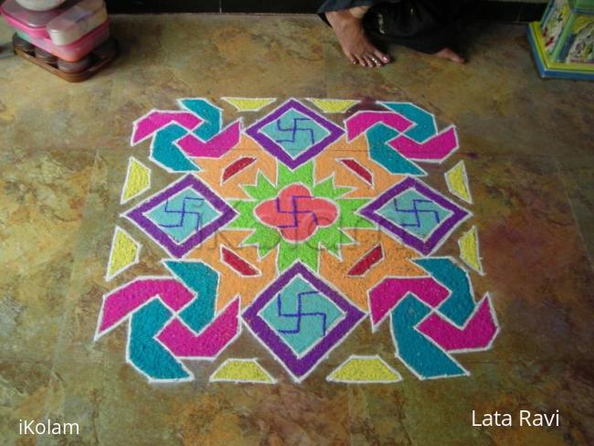 Rangoli: rangoli made on tulsi vivah day