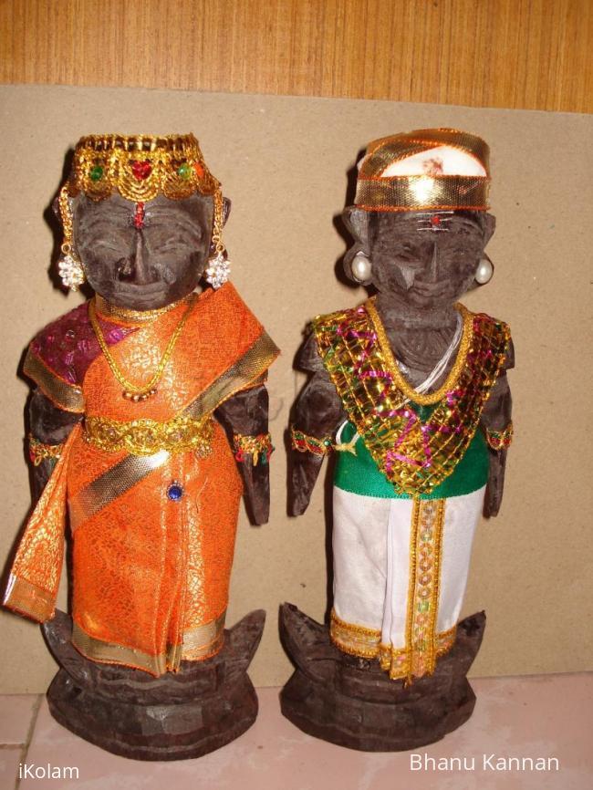 Rangoli: Mara paachi Doll Decoration