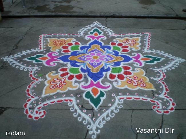 Rangoli: diwali contest- 2009