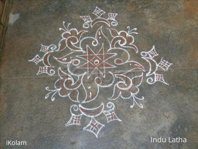 Rangoli: Friday Kavi kolam