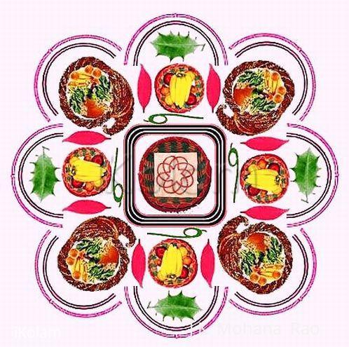 Rangoli: paDikOlam - 23 - Thanksgivingday paDikOlam