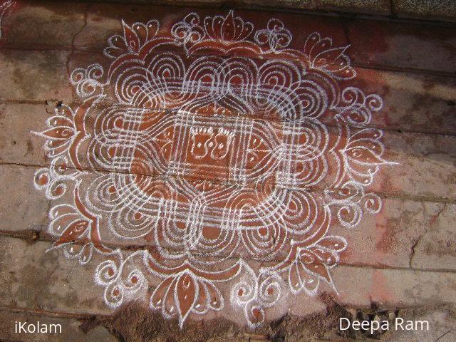 Rangoli: navratri kolam 3