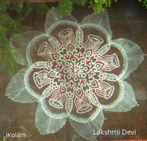 Rangoli: lotus buds rangoli