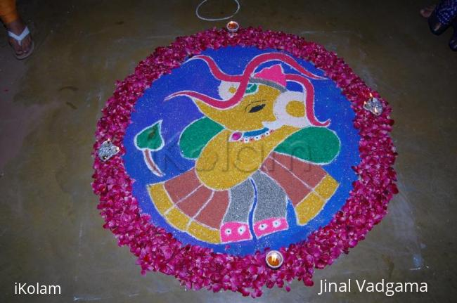 Rangoli: This is my competition vali rangoli and I won the 1st prize for this!!!!!!!