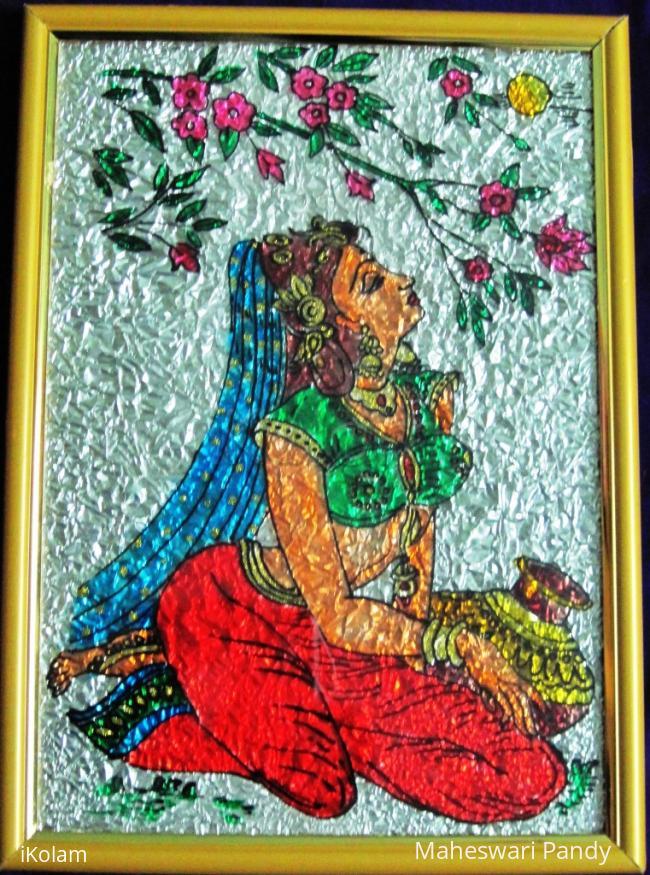 Rangoli: Dreaming Girl