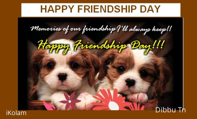 Rangoli: HAPPY FRIENDSHIP DAY