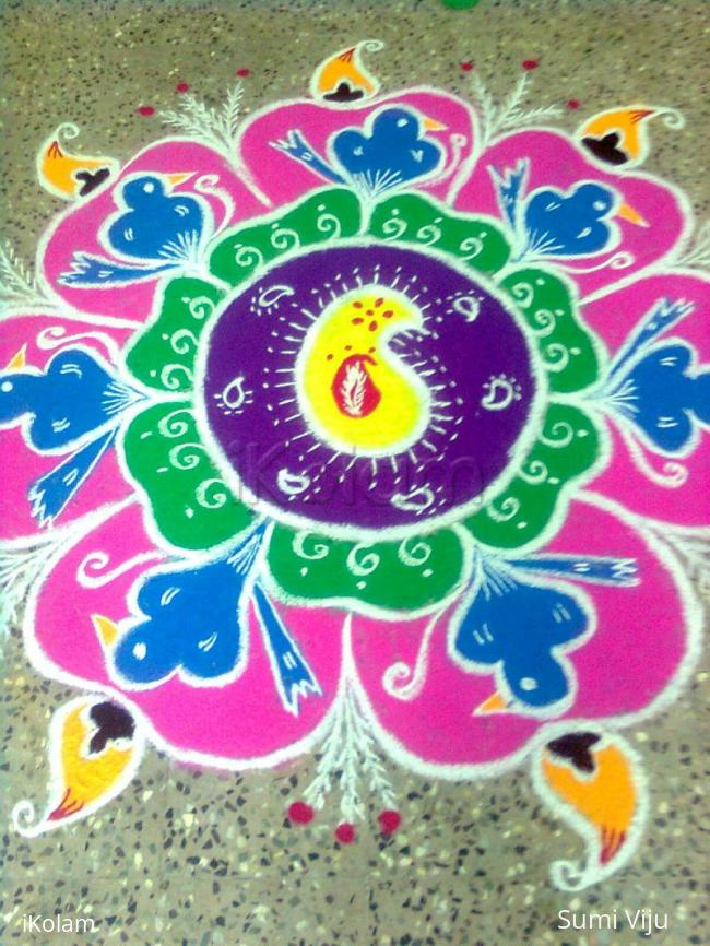 Rangoli: prizewinning kolam in the women's day celebrations