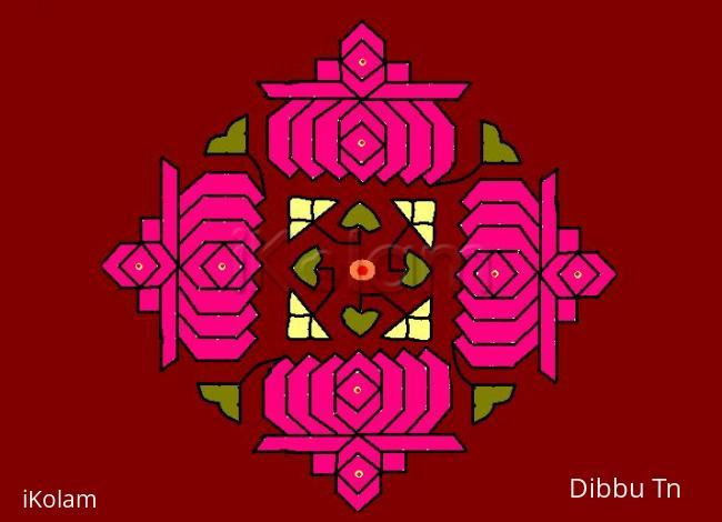 Rangoli: Lotus Blooms