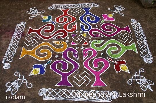 Rangoli: Swan kolam