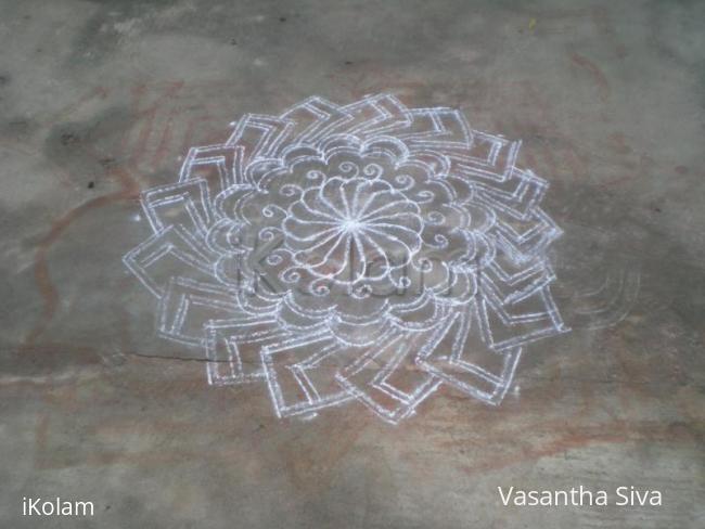 Rangoli: Free hand kolam.