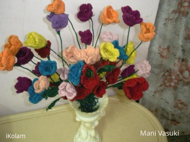 Rangoli: Woollen Flowers