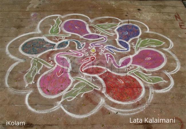 Rangoli: Pride of Peacocks Rangoli