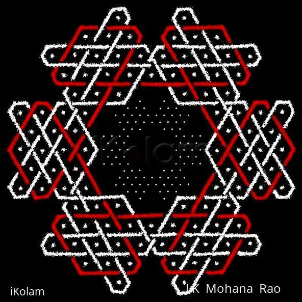 Rangoli: Sona hexagon - 2