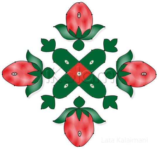 Rangoli: Strawberries Rangoli