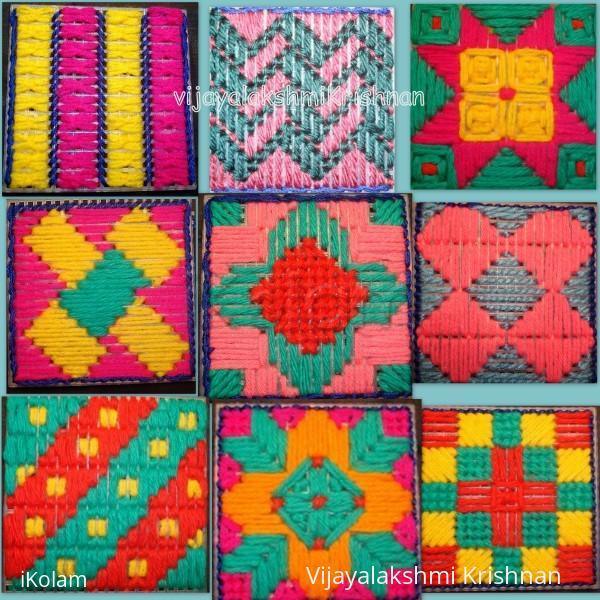 Rangoli: Kolam designs in plastic canvas (E.Kolam)