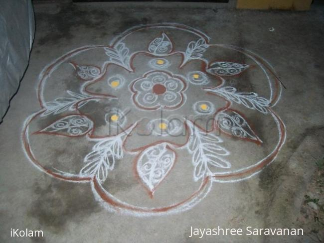 Rangoli: Kolam Drawn on New Year 2011