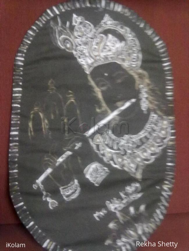 Rangoli: Krishna-Line drawing