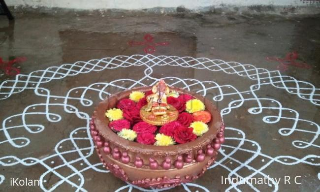 Rangoli: terracotta thali